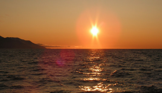 The Midnight Sun at 80°N