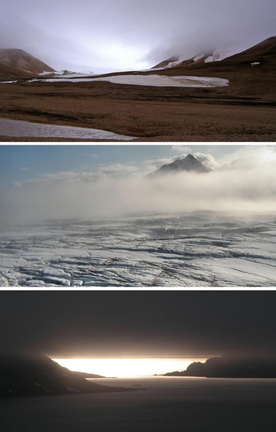 Mars, Europa and Titan in Svalbard