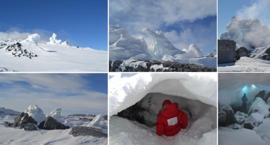 Antarctic ice towers