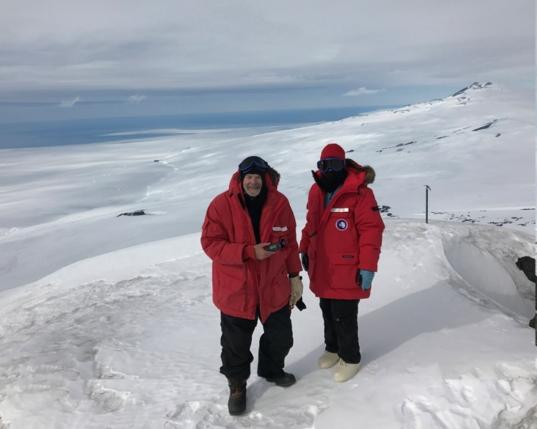 At Mount Erebus, Antarctica
