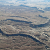 Inverted channels on Earth
