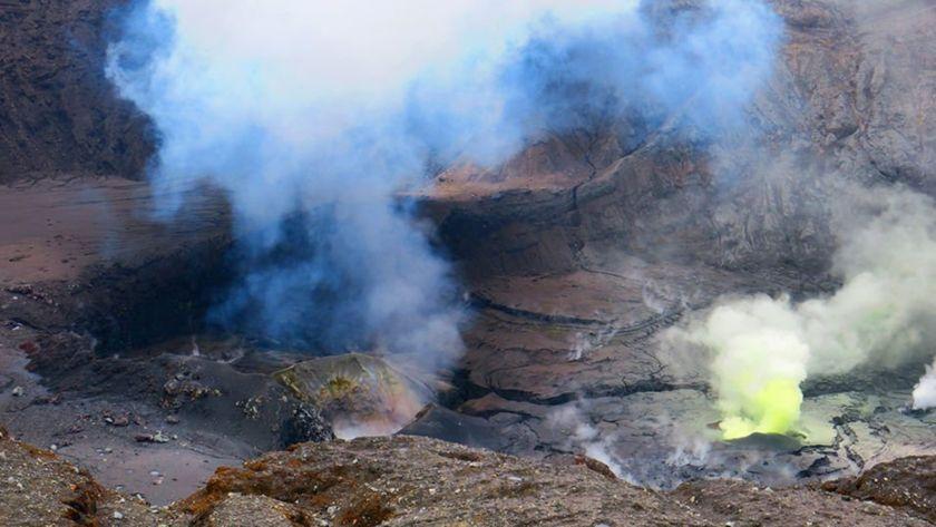 Poás volcano, minus its lake