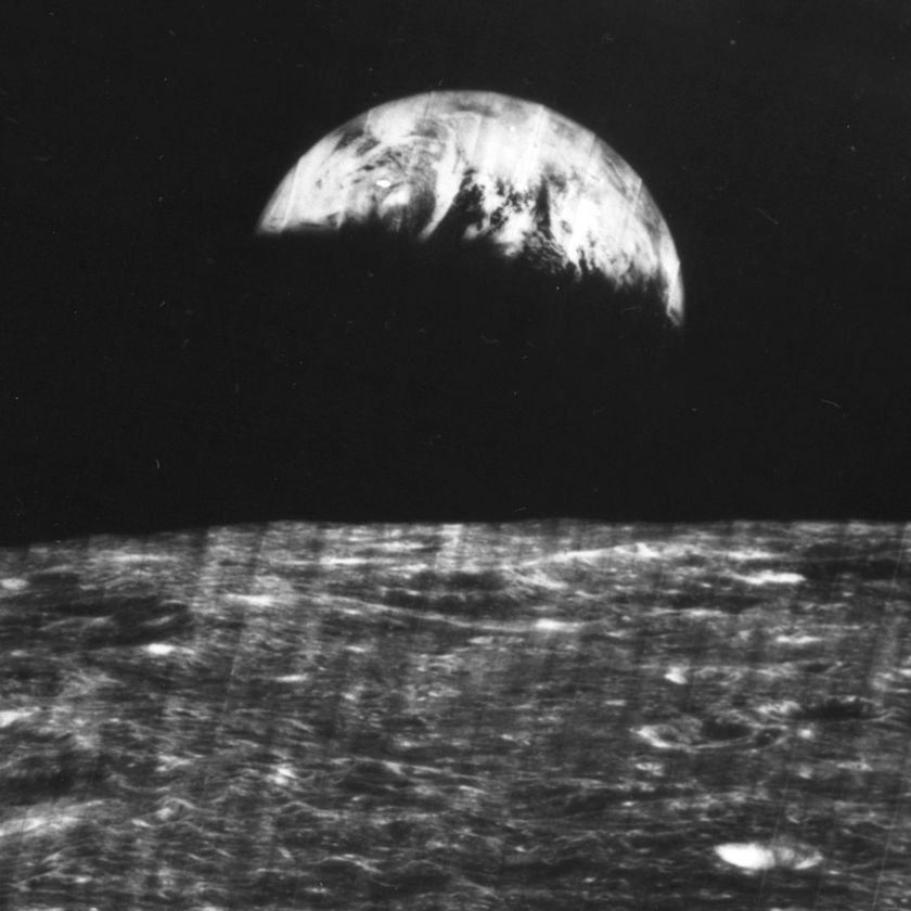 Then & Now: Earthrise