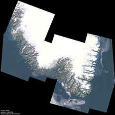 Southern Greenland from Landsat 7