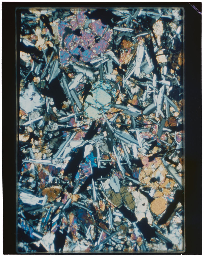 Petrographic thin section of Apollo 11 sample 10062