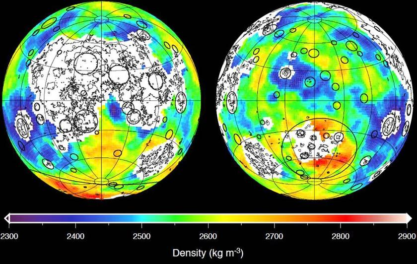 Map of the Moon's crustal density inferred from GRAIL's gravity map