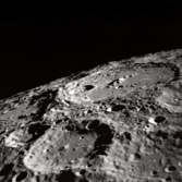Oblique view of the lunar limb from Apollo 10