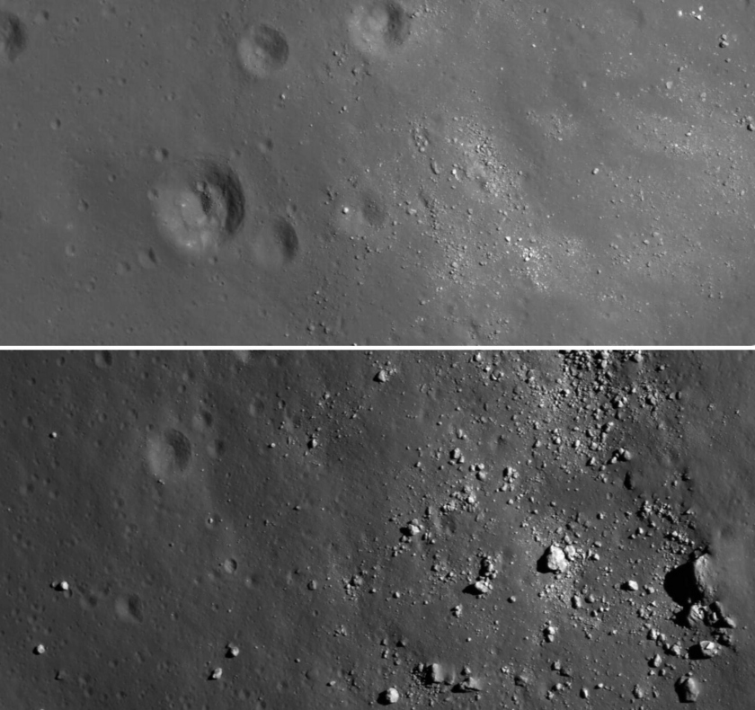 Tsiolkovsky Crater Extreme Close-Up