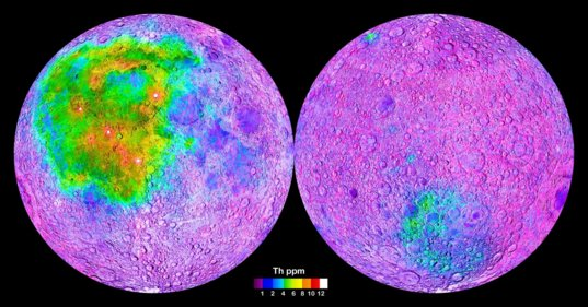 Thorium map of the Moon