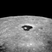 Apollo 8 view across Tsiolkovsky crater