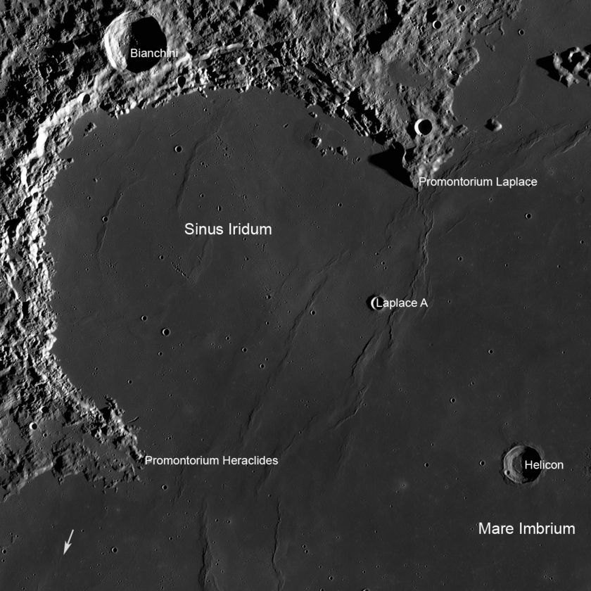 A Great Place to Rove: Sinus Iridum area of the Moon