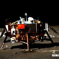 Chang'e 3 on the surface of the Moon