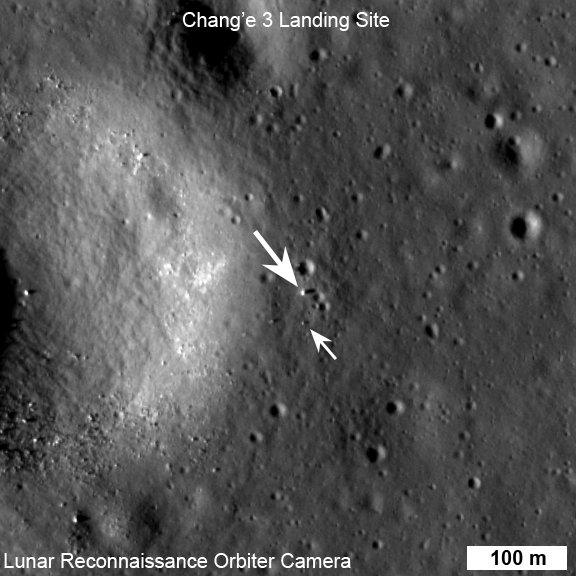 Chang'e 3 and Yutu seen from orbit