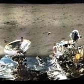 Panorama around the Chang'e 3 lander (unwrapped)