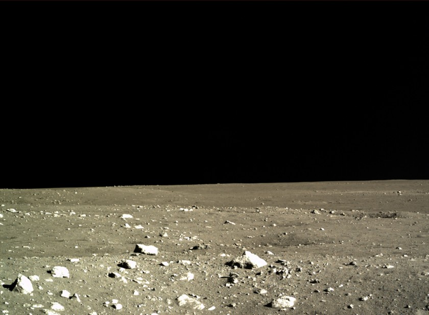First images of lunar landscape from Chang'e 3 lander, December 15, 2013