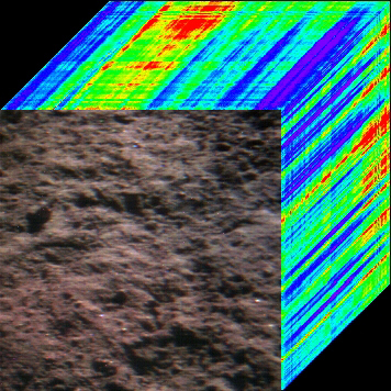 Yutu first visible/near-infrared spectrometer image of lunar soil
