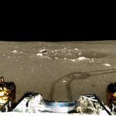 Panoramic view around the Chang'e 3 lander