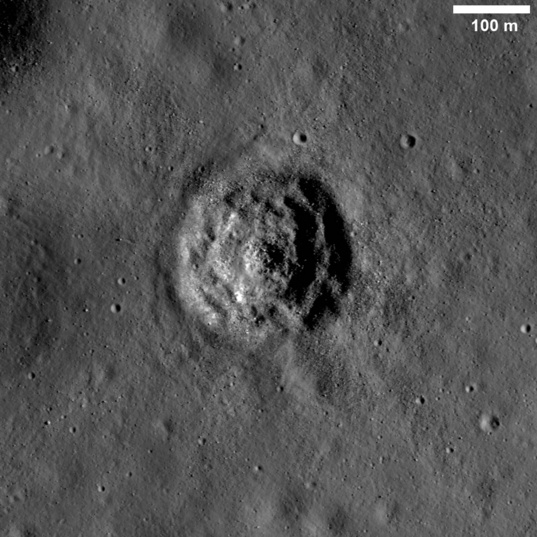 Terraced crater on the Moon