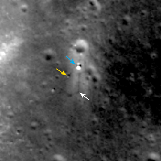 Chang'e 3 and Yutu on their third lunar day (annotated)
