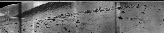 Lunokhod 2 panorama of the Fossa Recta