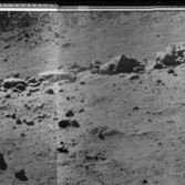 Lunokhod 2 panorama of the Fossa Recta