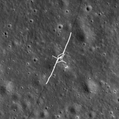 Lunokhod 2 tracks and panorama locations