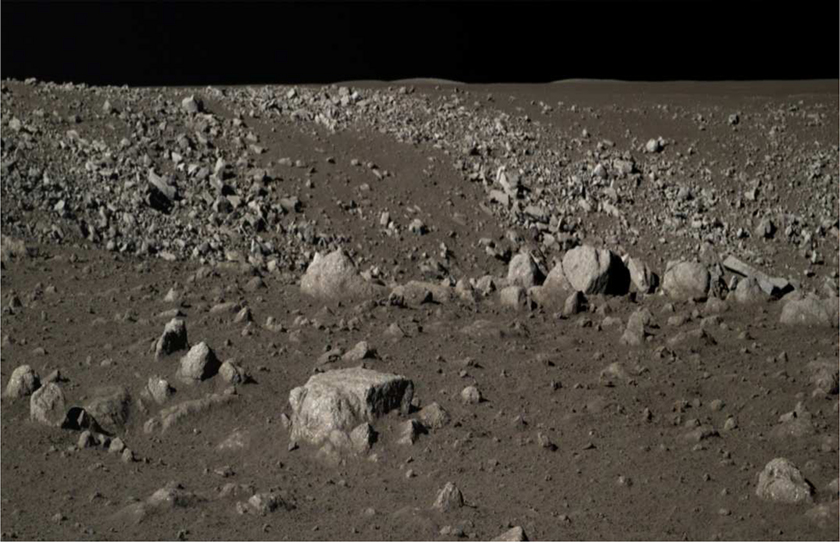 The lunar surface from Yutu