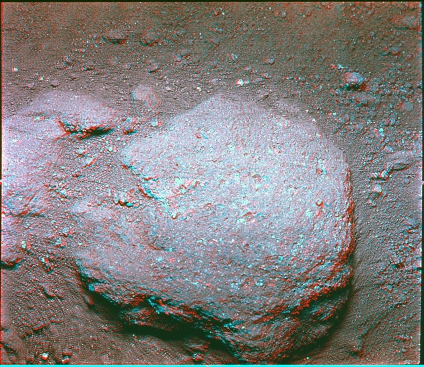 Hard rock surface, Apollo 11