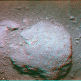 Hard rock surface, Apollo 11