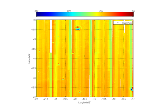 Diviner Ch 4 Brightness Temperature (TB) map