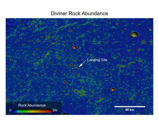 Diviner lunar rock abundance at the Chang'e 3 landing site