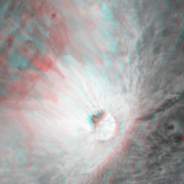 Perched Crater in Darwin C (Anaglyph)