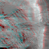 Thales Crater (Anaglyph)