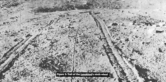 Lunokhod's tracks