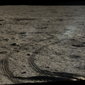 Tracks in the regolith