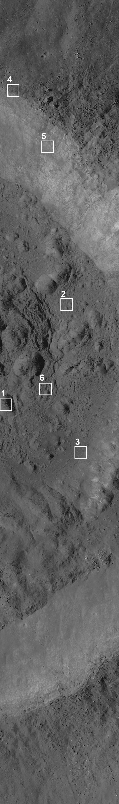 Necho crater on the Moon