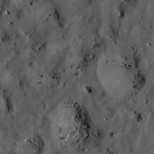 Necho crater detail: Boulders on hills but not in valleys