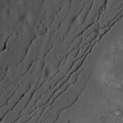 Necho crater detail: concentric tectonic features on crater floor