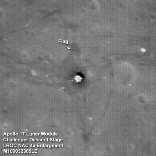 Apollo 17 lander and flag!