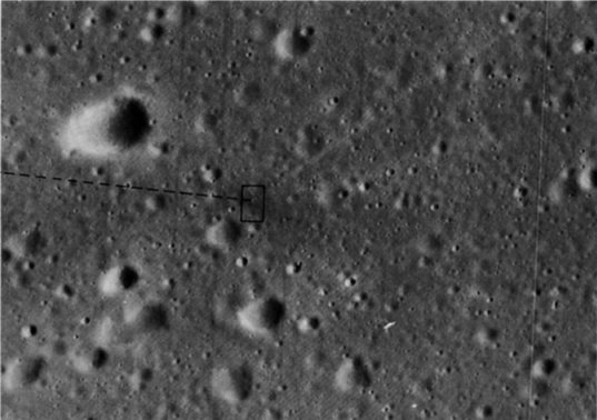 Impact site of the Apollo 14 S-IVB from Apollo 16