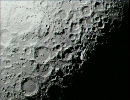 LCROSS view of the lunar south pole