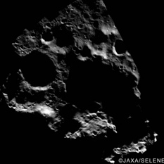 Kaguya Terrain Camera image of Cabeus region