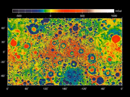 GRAIL gravity map of the Moon