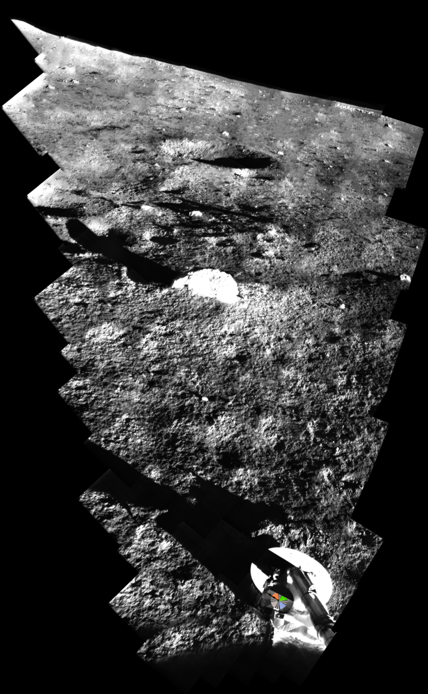 Surveyor 1 digitized panorama with color photometric target