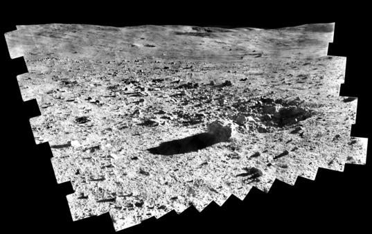 Surveyor 7 digitized panorama