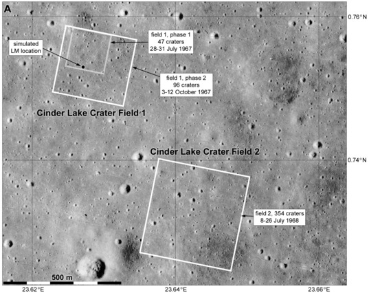 Cinder Lake crater fields: Lunar analogues