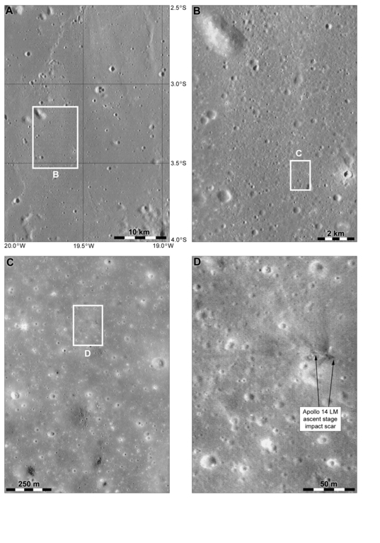 Possible Apollo 14 LM ascent stage impact