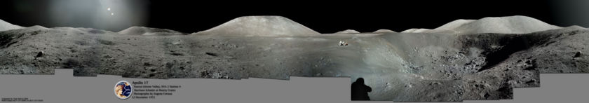 Apollo 17 Shorty crater color panorama