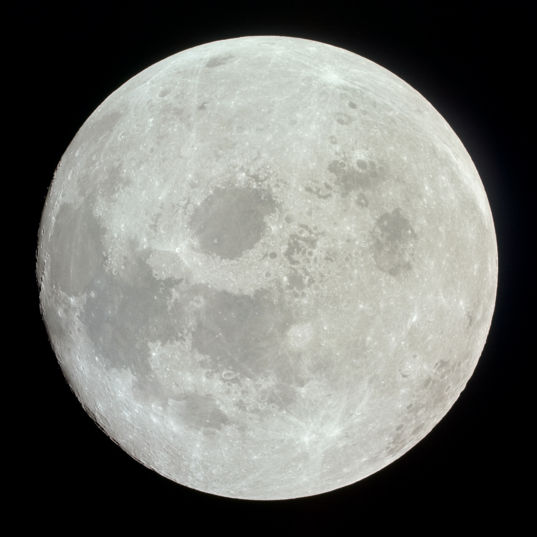 Apollo 11 image of a nearly full Moon