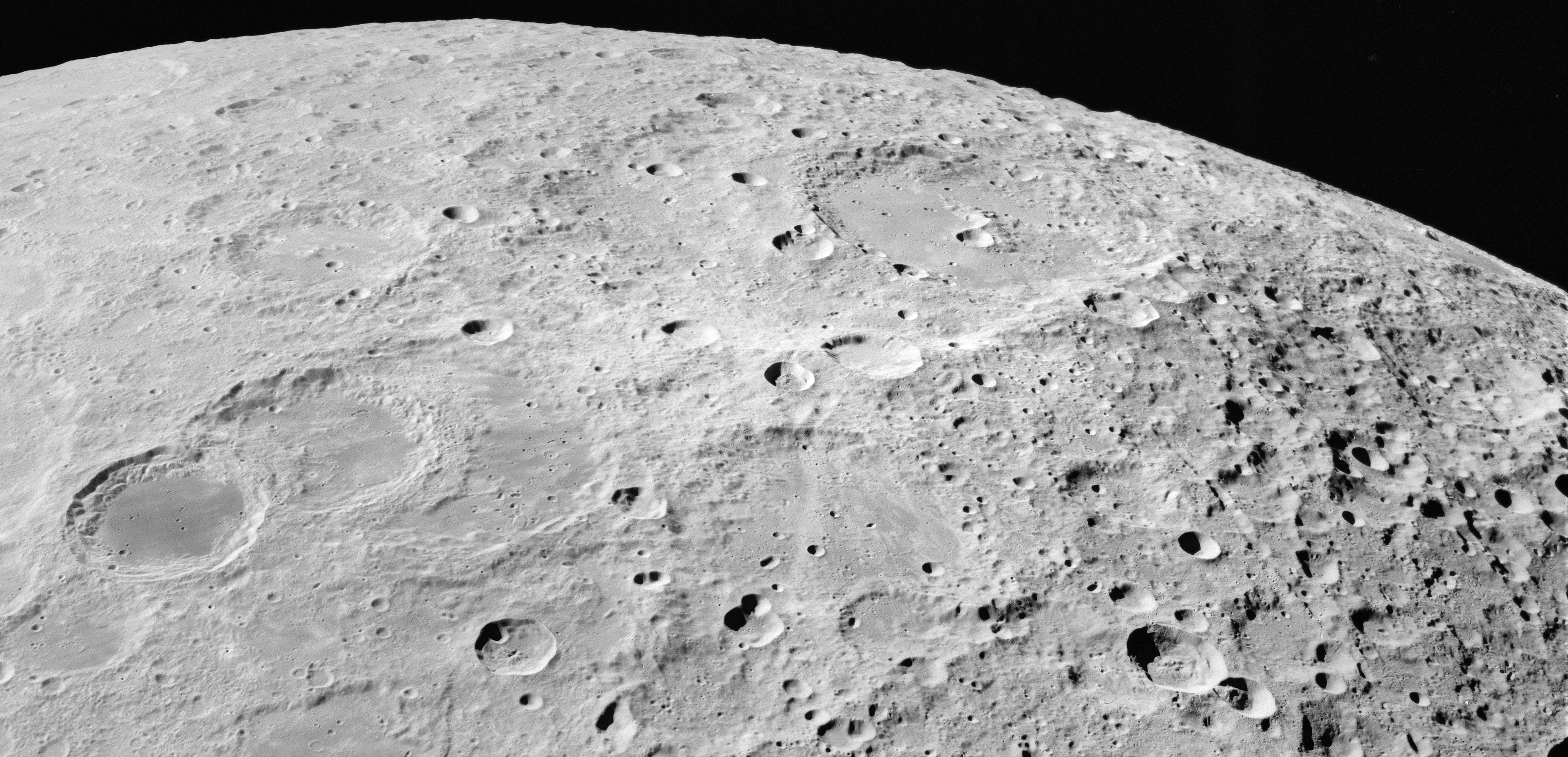 apollo 16 view of the moon centered on giordano bruno crater the